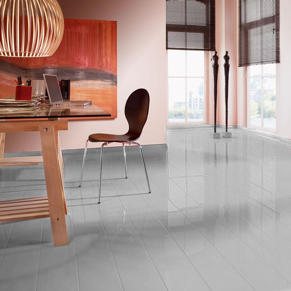 elesgo color grey grau superglanz floor laminat rundkante inkl leisten tri ebay. Black Bedroom Furniture Sets. Home Design Ideas